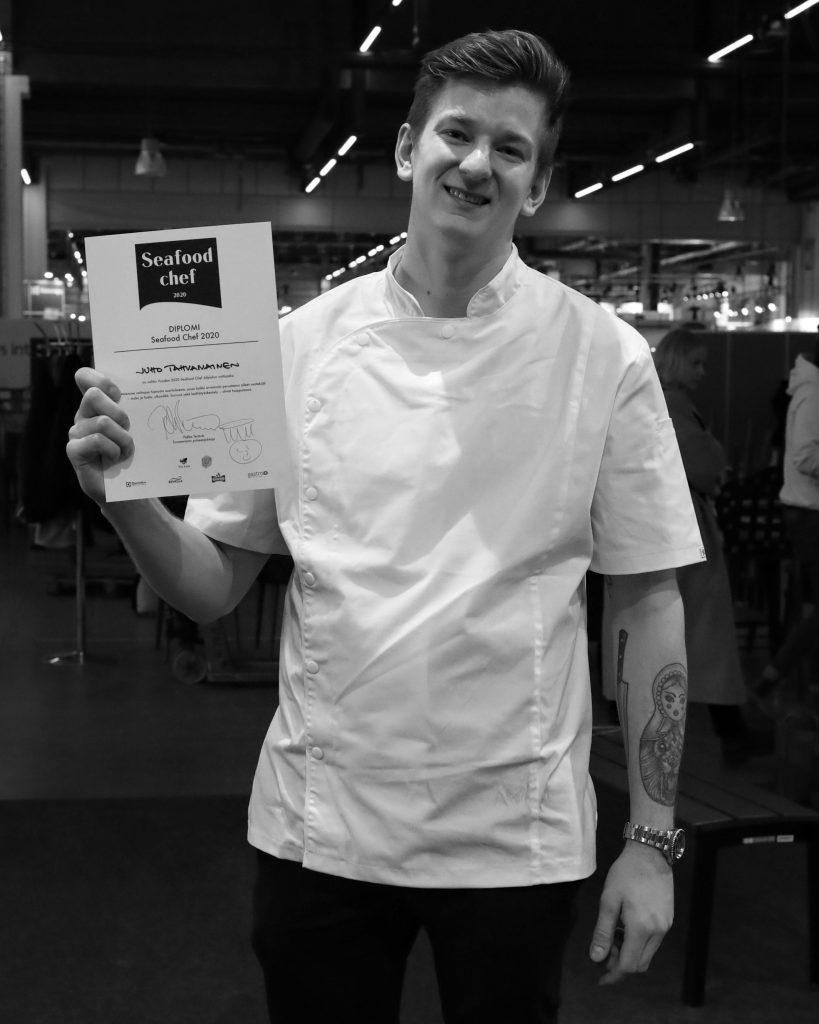 Seafood Chef 2020 Juho Tahvanainen. Kuva: Alexander Kondratenko